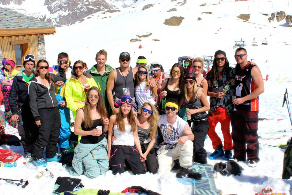Val D'isere group enjoying the mountain