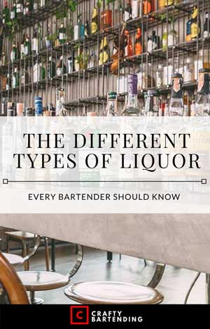 The Different Types of Liquor - A Bartender's Guide - Crafty Bartending